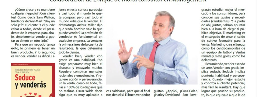 Vender es seducir El Mercantil Rep Dominicana febrero 2017