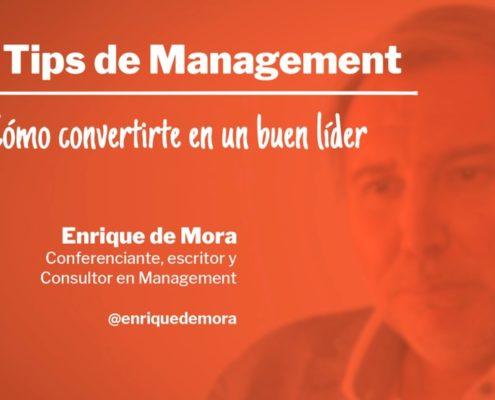 Como convertirte en un buen líder carátula Tip de Management